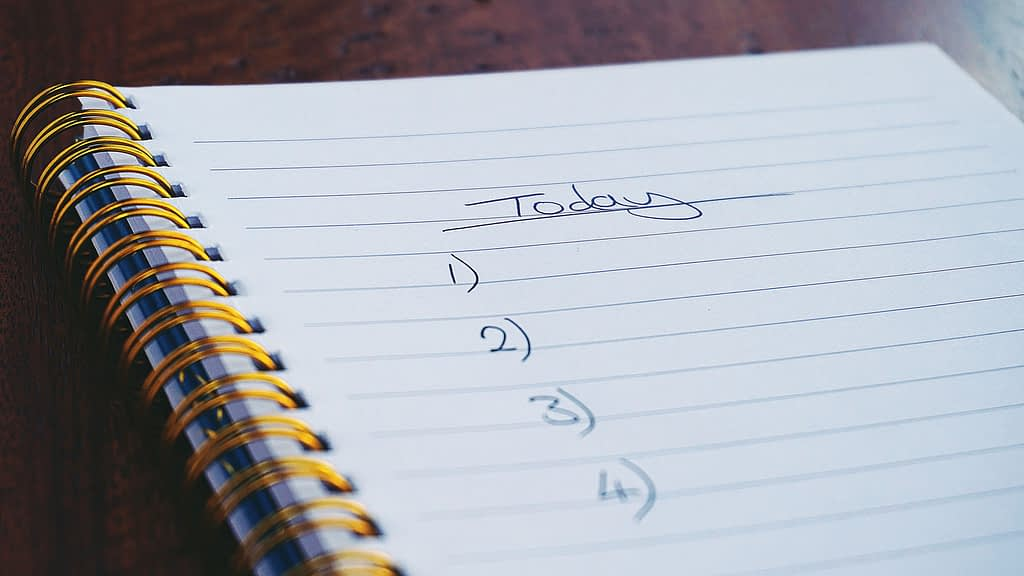 write a list to stop procrastinating